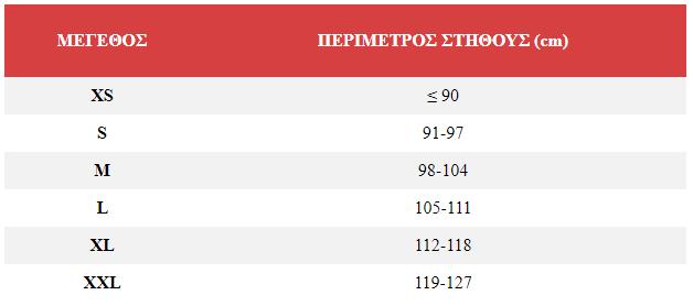 ΤΖΑΚΕΤ GORE-TEX ARCTOS D3 Διαστασιολόγιο