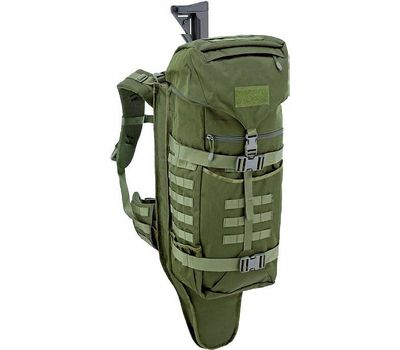 DEFCON 5 BACKPACK WITH INTEGRATED GUN HOLSTER - 45L - OLIVE GREEN